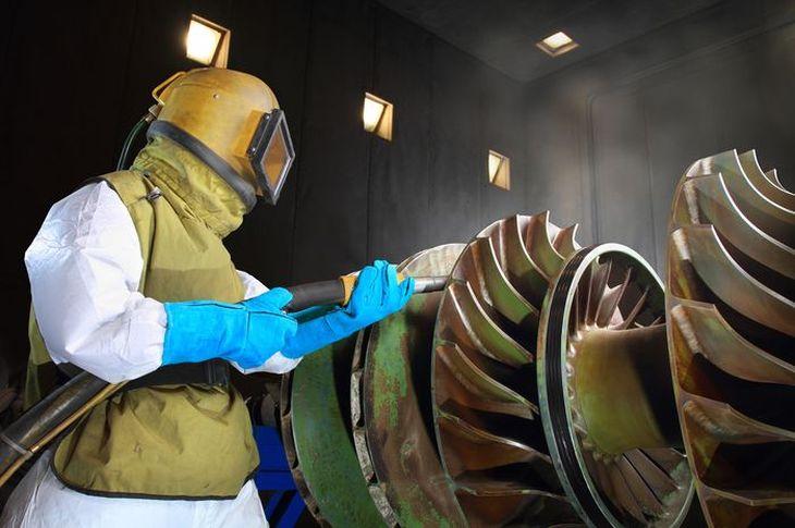 Описание процесса пескоструйной обработки металла